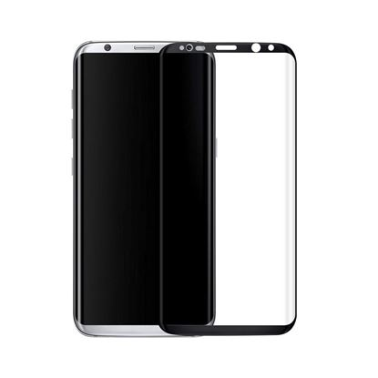 Picture of 3D Curved Edge Full Coverage 9H Hardness Tempered Glass Screen Protector for Samsung Galaxy S8 Plus, Ultra Clear, Easy to Install, Drop/Scratch Proof, Bubble Free - Black