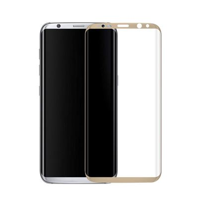 Picture of Copy of 3D Curved Edge Full Coverage 9H Hardness Tempered Glass Screen Protector for Samsung Galaxy S8 Plus, Ultra Clear, Easy to Install, Drop/Scratch Proof, Bubble Free - Gold