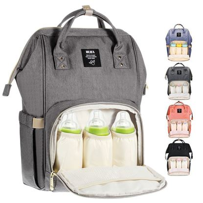 Picture of Diaper Bag Multi-Function Waterproof Travel Backpack Nappy Bag for Baby Care with Insulated Pockets,  Large Capacity, Durable