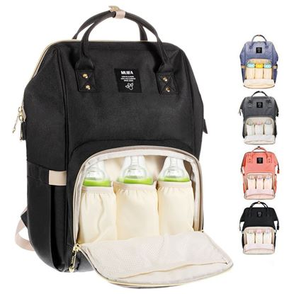 Picture of MUIFA Diaper Bag Backpack Multi-Function Waterproof Travel Backpack Nappy Bag for Baby Care with Insulated Pockets, Large Capacity, Durable